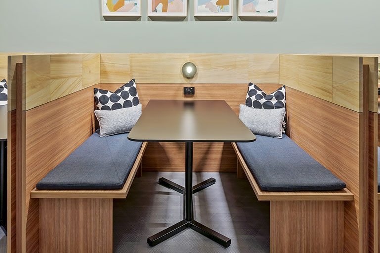 Meeting area in a Sydney centre available for TEC members to greet clients