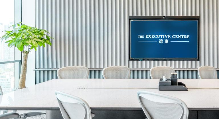 TEC Logo showing on TV screens of TEC China Meeting Rooms