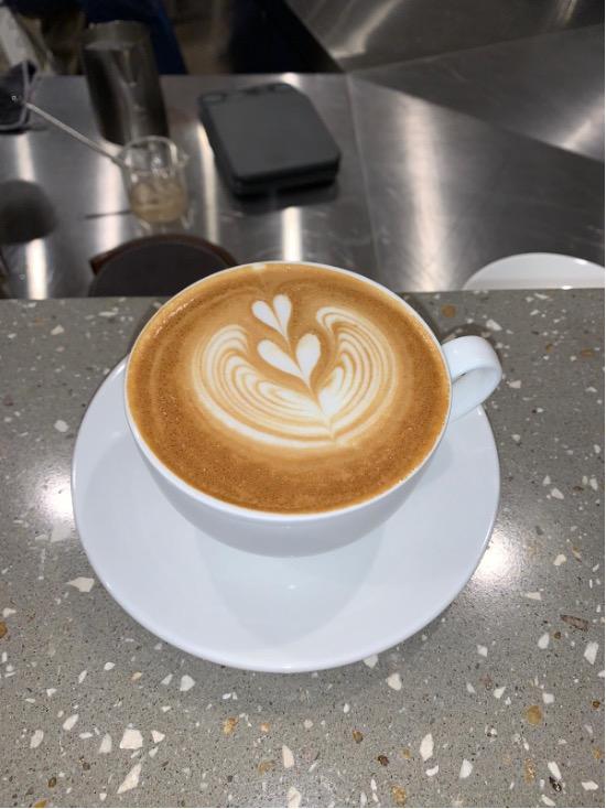 Coffee latte art created by TEC barista