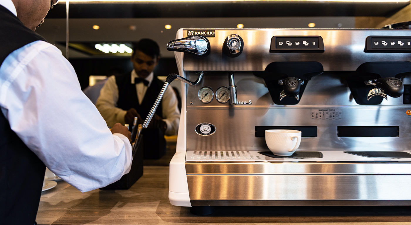 professional coffee machine at one of TEC business centres
