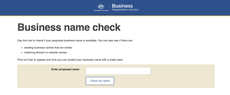 You can use the business name check tool to make sure the name is not taken by existing businesses