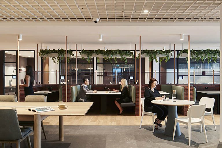 Coworking space lounge space at one of the Melbourne centres
